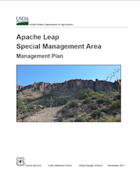 Image: Cover of the Apache Leap Special Management Area Management Plan